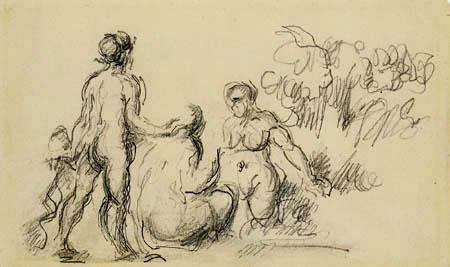 Paul Cézanne (Cezanne) - Drei weibliche Badende