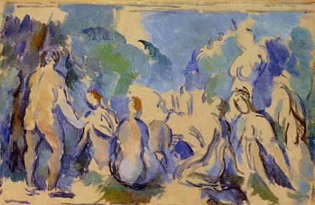 Paul Cézanne (Cezanne) - Studie mit Badenden
