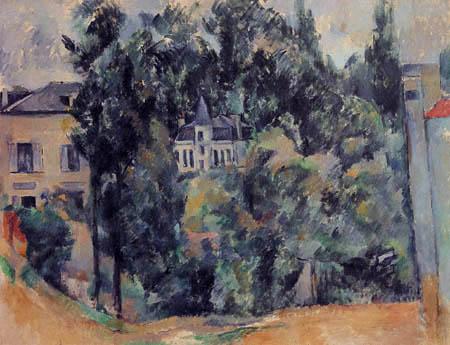 Paul Cézanne (Cezanne) - Schloß in der Umgebung von Paris
