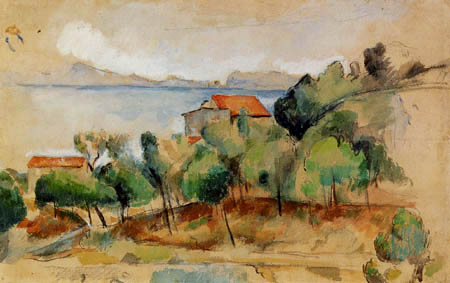 Paul Cézanne (Cezanne) - The bay of L Éstaque