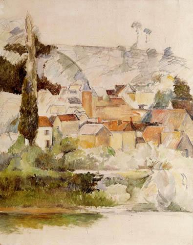 Paul Cézanne (Cezanne) - Schloß und Dorf Medan