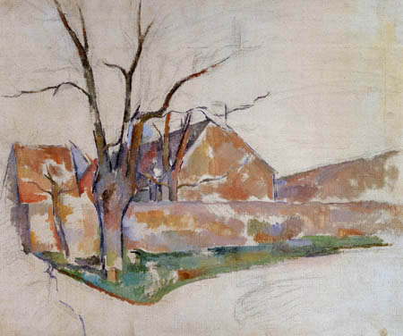Paul Cézanne (Cezanne) - Paisaje de Invierno