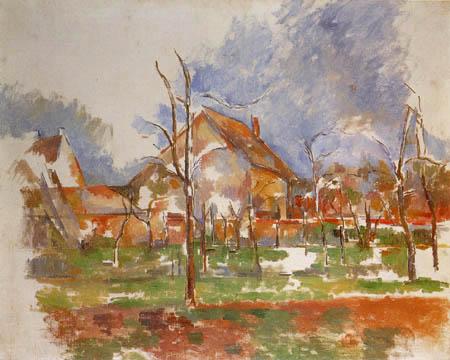 Paul Cézanne (Cezanne) - Paisaje de Invierno, Giverny