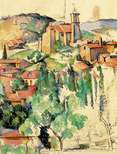Paul Cézanne (Cezanne) - Gardanne am Nachmittag