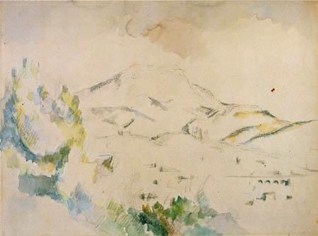 Paul Cézanne (Cezanne) - Montagne Sainte-Victoire mit Viadukt