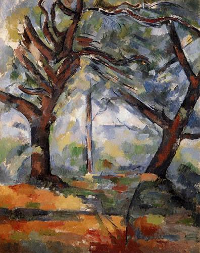 Paul Cézanne (Cezanne) - Große Bäume