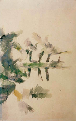 Paul Cézanne (Cezanne) - Reflections in the water