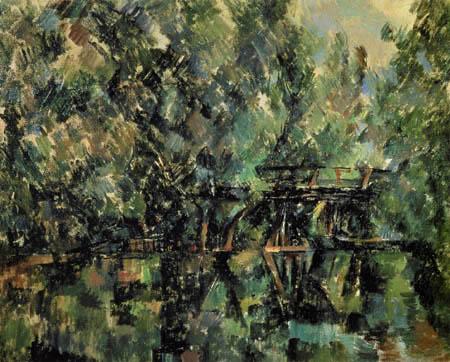 Paul Cézanne (Cezanne) - Bridge over the pond