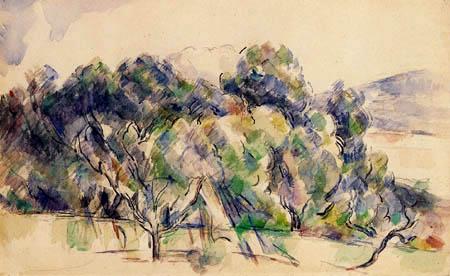 Paul Cézanne (Cezanne) - Baumgruppe