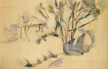 Paul Cézanne (Cezanne) - Landschaft in der Provence