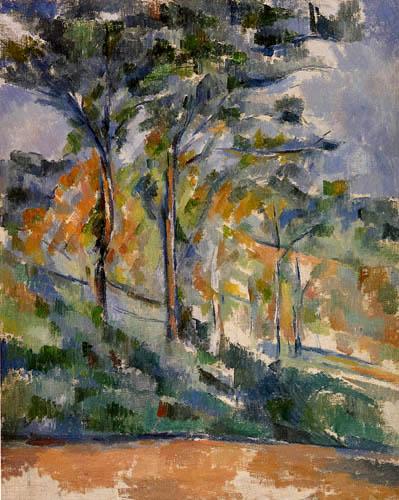 Paul Cézanne (Cezanne) - Unterholz Waldstück