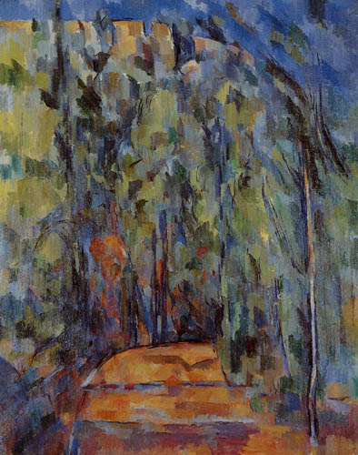 Paul Cézanne (Cezanne) - Wegbiegung im Wald