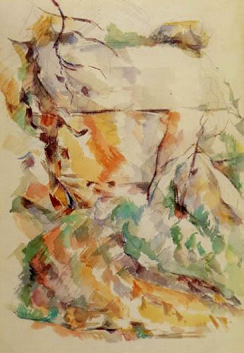 Paul Cézanne (Cezanne) - Felsen bei den Höhlen unter dem Chateau Noir