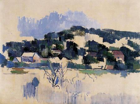 Paul Cézanne (Cezanne) - Häuser auf einem Hügel