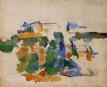 Paul Cézanne (Cezanne) - Haus unter Bäumen