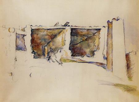 Paul Cézanne (Cezanne) - Verfallene Hütte nahe Aix