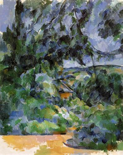 Paul Cézanne (Cezanne) - Blaue Landschaft