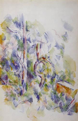 Paul Cézanne (Cezanne) - Verwachsener Baum und Zisterne