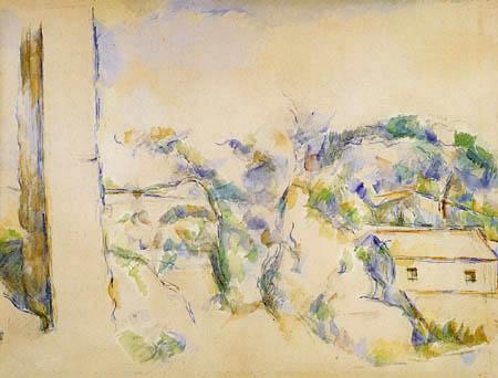 Paul Cézanne (Cezanne) - Landschaft in der Umgebung von Aix