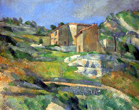 Paul Cézanne (Cezanne) - Häuser in der Provence