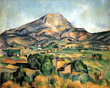 Paul Cézanne (Cezanne) - Ansicht der Montagne Sainte-Victoire