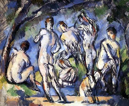 Paul Cézanne (Cezanne) - Sieben Badende