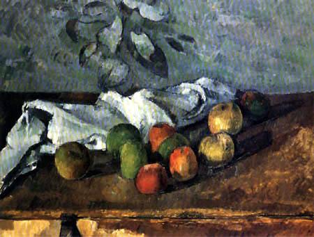 Paul Cézanne (Cezanne) - Äpfel und Tuch