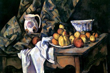Paul Cézanne (Cezanne) - Stillleben mit Äpfeln und Pfirsichen