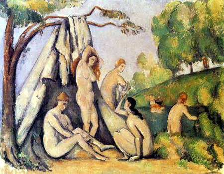 Paul Cézanne (Cezanne) - Bathers in front of a tent