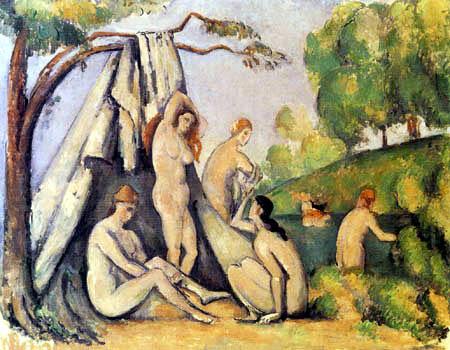 Paul Cézanne (Cezanne) - Badende vor einem Zelt
