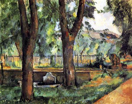 Paul Cézanne (Cezanne) - Bassin und Waschplatz im Jas de Bouffan