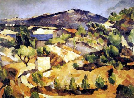 Paul Cézanne (Cezanne) - Berge in der Provence