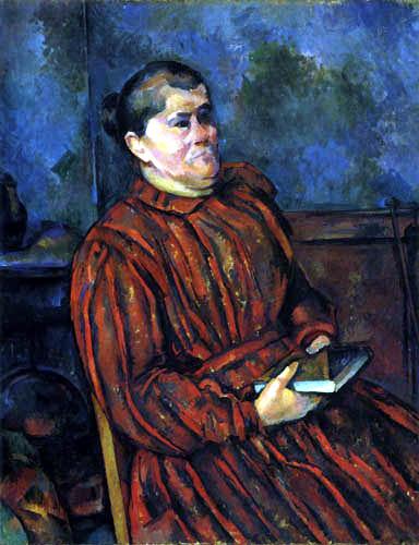 Paul Cézanne (Cezanne) - Portrait of a woman in red dress