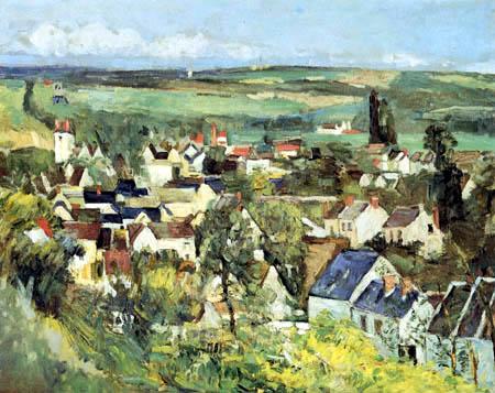 Paul Cézanne (Cezanne) - View of Auvers