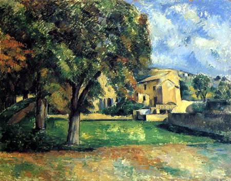 Paul Cézanne (Cezanne) - Kastanienbäume und Landgut, Jas de Bouffan
