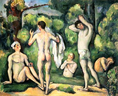 Paul Cézanne (Cezanne) - Fünf Badende