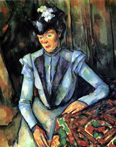 Paul Cézanne (Cezanne) - Dame in Blau