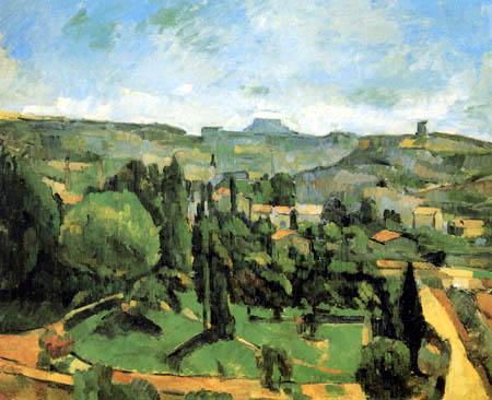 Paul Cézanne (Cezanne) - Le Pilon du Roi, von Bellevue aus gesehen