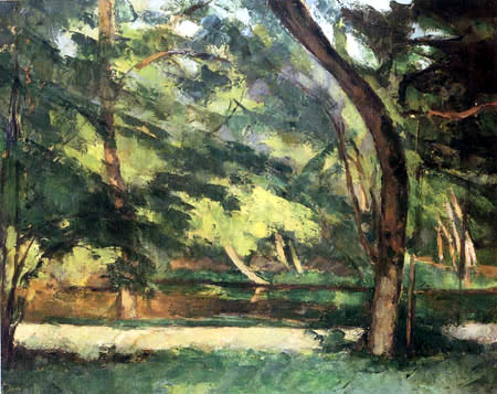 Paul Cézanne (Cezanne) - The pond of the sisters at Osny