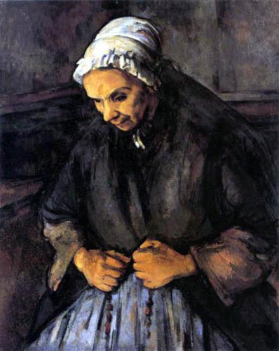Paul Cézanne (Cezanne) - Die Alte mit dem Rosenkranz