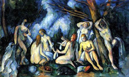 Paul Cézanne (Cezanne) - Die Badenden