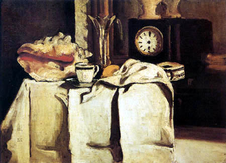 Paul Cézanne (Cezanne) - Die schwarze Uhr