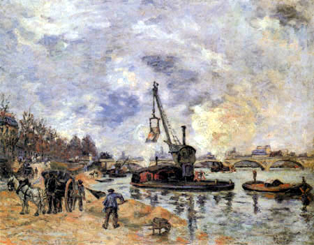 Paul Cézanne (Cezanne) - The Seine at Bercy
