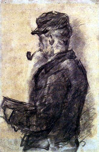 Paul Cézanne (Cezanne) - Dr. Gachet in the studio