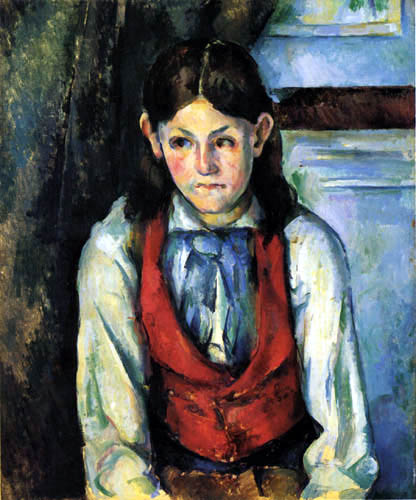 Paul Cézanne (Cezanne) - Knabe mit roter Weste