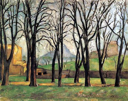 Paul Cézanne (Cezanne) - Kastanienbäume im Jas de Bouffan im Winter