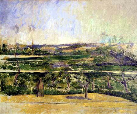 Paul Cézanne (Cezanne) - Landschaft bei Aix in der Provence