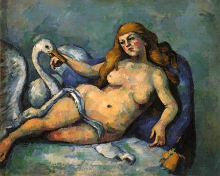 Paul Cézanne (Cezanne) - Leda und der Schwan