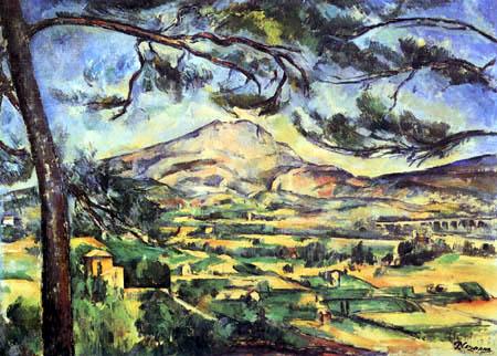 Paul Cézanne (Cezanne) - Mont Sainte-Victoire, Die grosse Kiefer