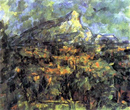 Paul Cézanne (Cezanne) - Mont Sainte-Victoire von Lauves gesehen